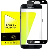 Black - [2 Pack] Samsung Galaxy S7 Screen Protector, Full Screen Coverage, 9H Hardness, Anti-Scratch, HD Ultra-clear, Bubble Free,Tempered Glass Screen Protectors For Galaxy S7