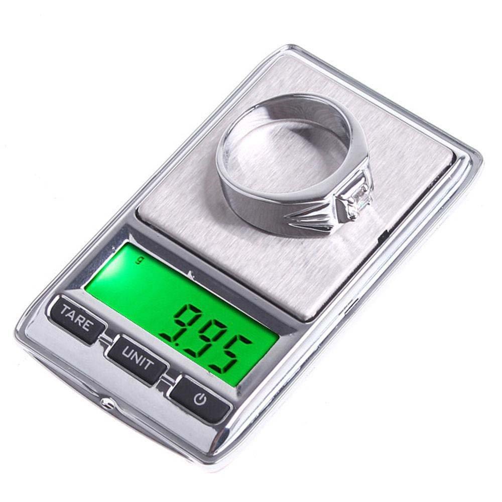 100g/0.01g 500g/0.1g Pocket Diamond Digital Jewelry Gram Balance Weight Scale Silver