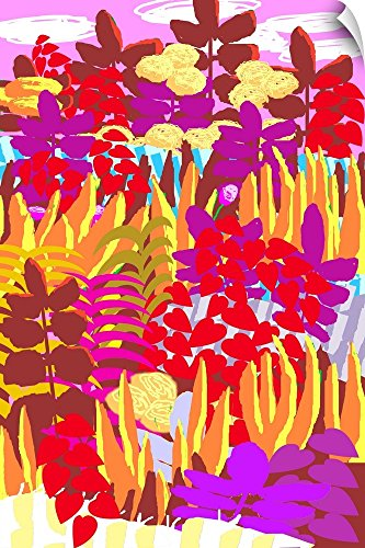 Canvas on Demand Charles Harker Wall Peel Wall Art Print entitled Flowerty 16''x24'' by Canvas on Demand