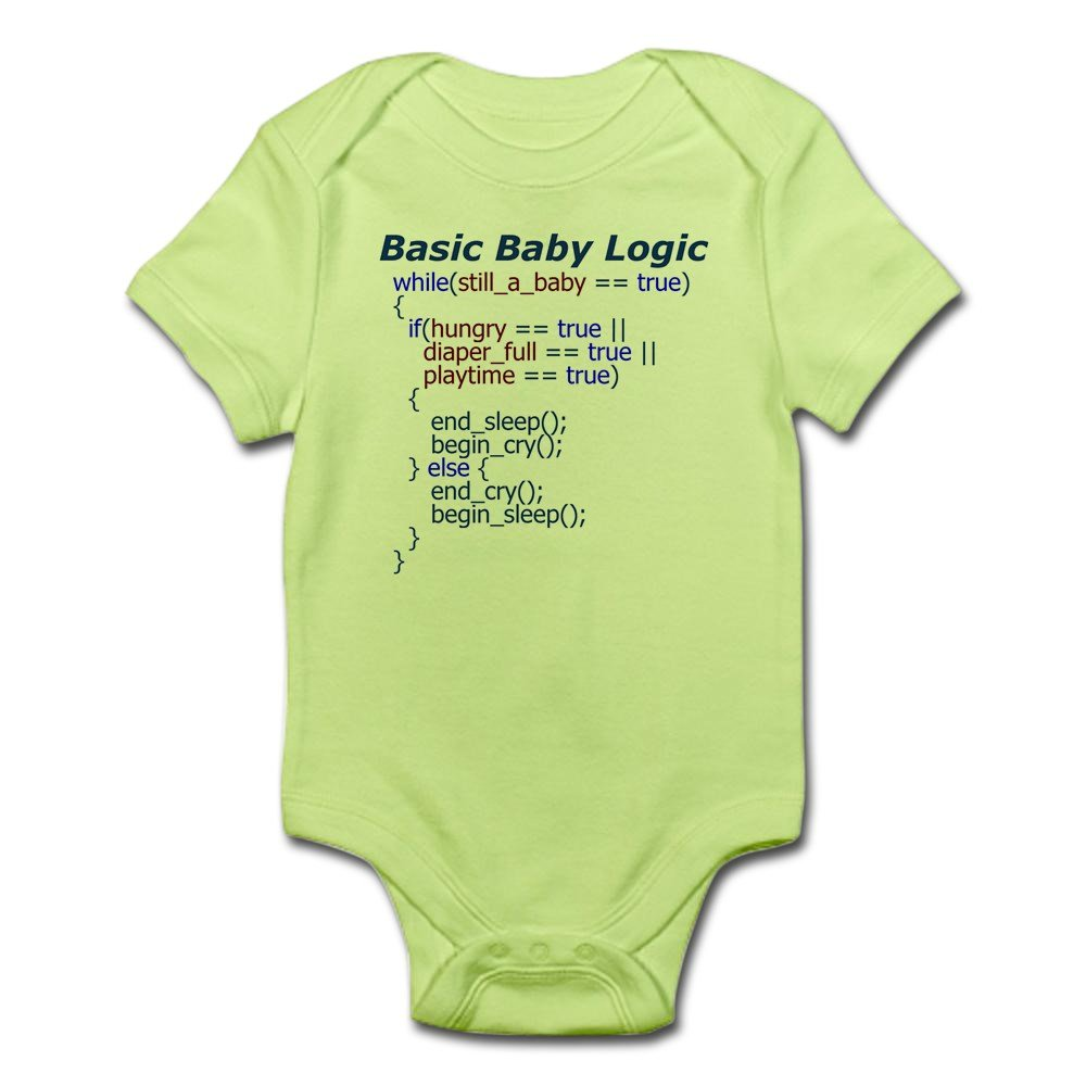Amazon cafepress basic baby logic onesie body suit cute amazon cafepress basic baby logic onesie body suit cute infant bodysuit baby romper clothing negle Choice Image