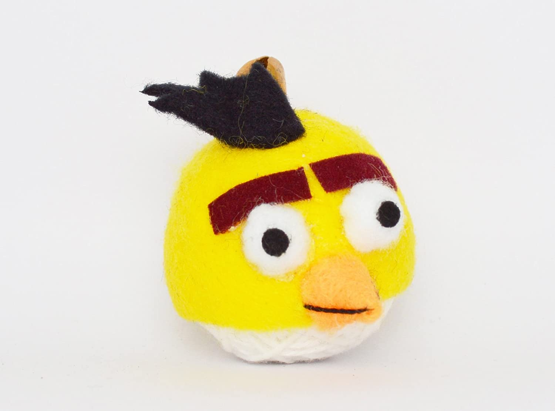 Amazon.com: (VD63) Angry Bird amarillo Voodoo cadena muñeca ...