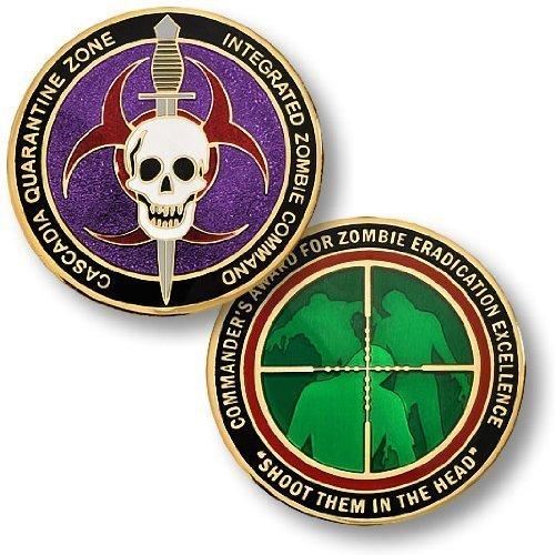 Commander Challenge Coin - Zombie Challenge Coin - Cascadia Quarantine Zone Commander's Award