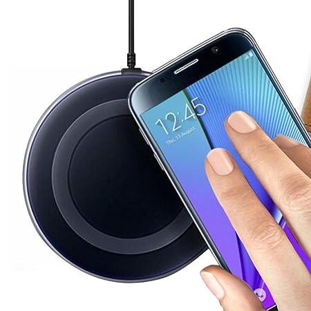 Tongshi para Samsung Galaxy Note 5 / S6 Edge Plus,Cargador inalámbrico Qi carga Pad (negro)