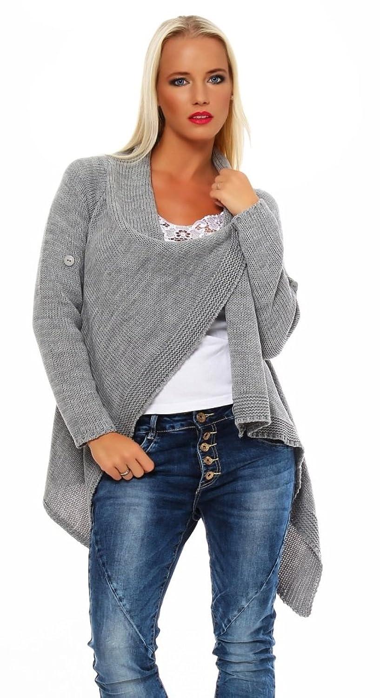 Mississhop Damen Cardigan Jacke Pullover Sweatshirt Einheitsgröße 36 38 40 S M L