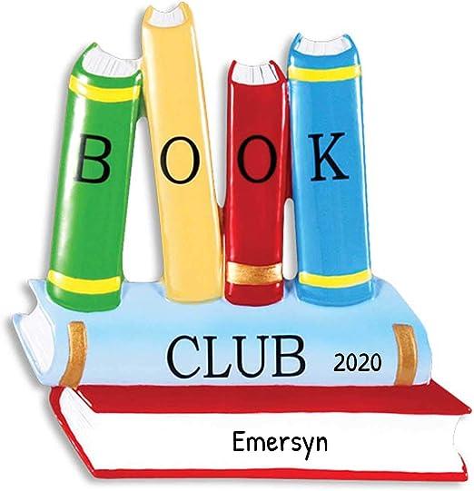 Christmas Novels 2020 Amazon.com: Personalized Book Club Christmas Tree Ornament 2020