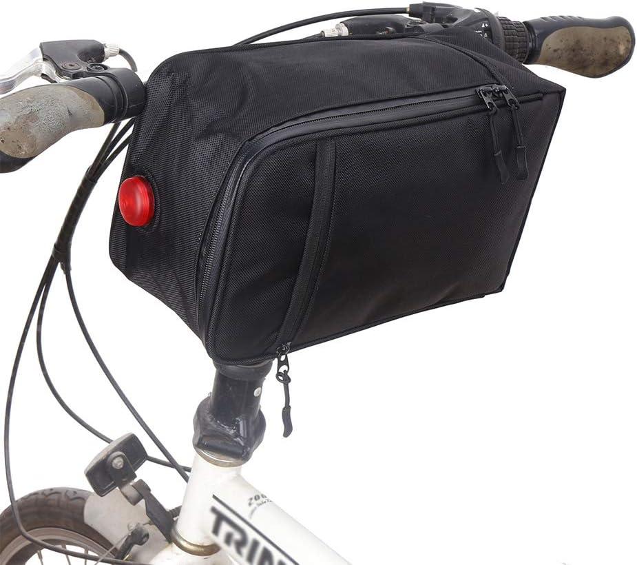 Bicycle Cycling Rear Seat Rack Storage Seatpost Handbag Luggage Bags Waterproof MTB Bike Bag with Tail Light Black Bicycle Trunk Bag