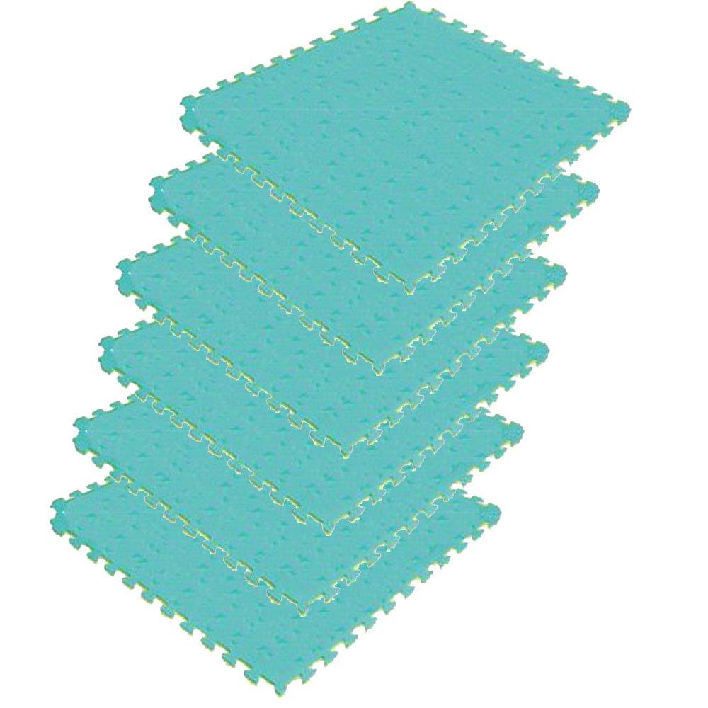 リバーシブルジョイントマット2(2cmタイプ)NRJM20【カラー:イエロー×グリーン】6枚セット B00JQ4JMDM