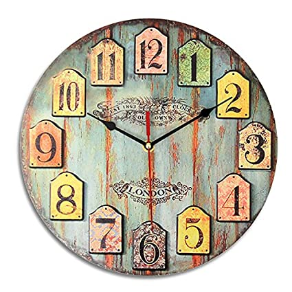 Buy Generic DIY Large Wooden Wall Clock Shabby Chic Rustic Retro For Home Decor Kitchen Online At Low Prices In India