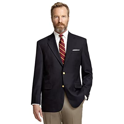Brooks Brothers Men's Madison Fit Two Button Blazer Jacket Navy Blue at Amazon Men's Clothing store