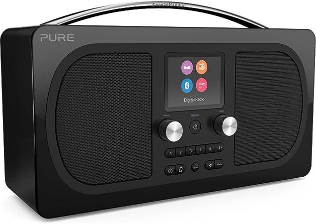 Pure Radio Evoke H6 (DAB+, DAB, FM, sonido estéreo, Bluetooth, Sleep Timer, Alarma, Snooze, Timer, 50 horas de duración de la batería) Negro: Amazon.es: Electrónica