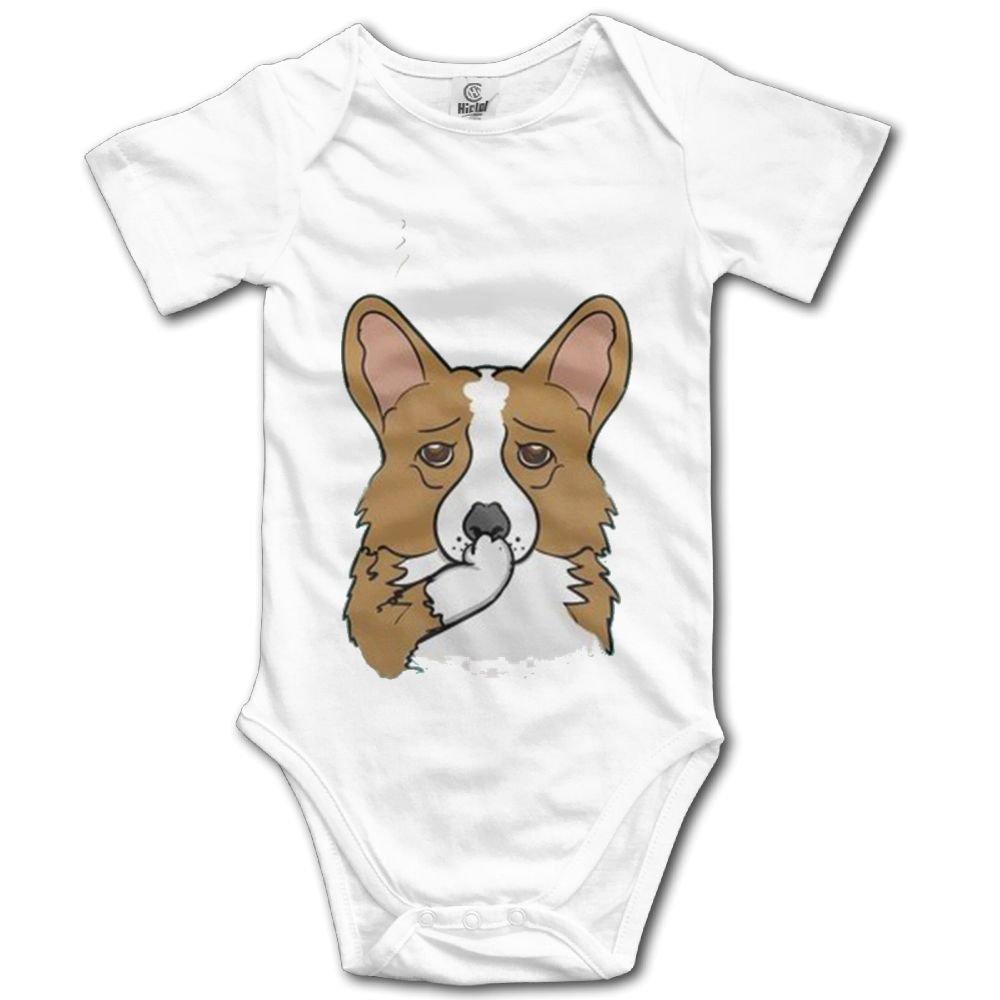 Rainbowhug Fun Pembroke Corgi Dog Unisex Baby Onesie Cute Newborn Clothes Funny Baby Outfits Soft Baby Clothes