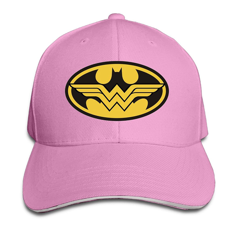 MYDT1 Unisex Batman And Wonder Women Outdoor Sandwich Peaked Caps Hats
