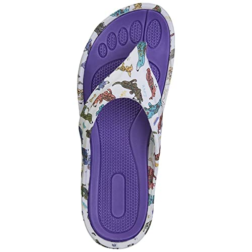 850ee7808a8f1f GreaterGood Pouncing Pets Flip Flop Sandals (7