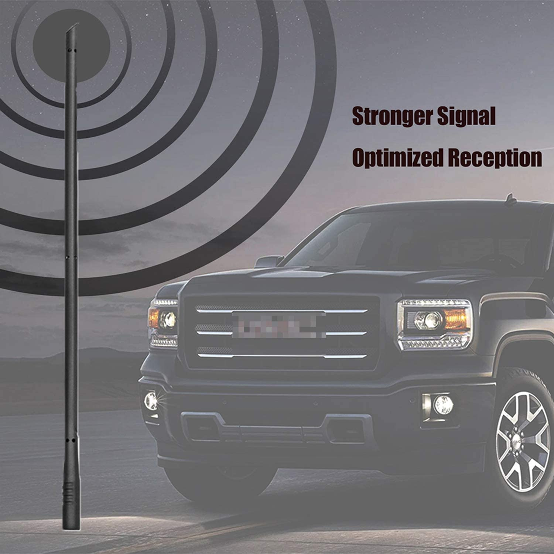 Copper Coil Antenna 2-4 Days OEM 2876544 22876545 22936386 - Antenna for 2007-2019 Chevy Silverado//Suburban Gmc Sierra//Yukon//Denali KSaAuto M7 Thread 13 Inches