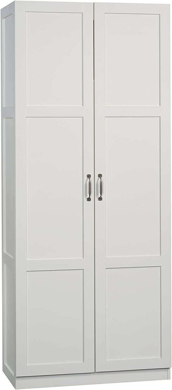 Sauder Miscellaneous Storage Cabinet | Soft White Finish | 419496 model