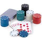 Classic Poker Cards and Chip Set with Chips and Playing Cards for Texas Holdem Poker and Other Casino Games