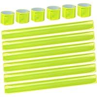 LISOPO 12PCS Reflektorbänder Schnapparmbänder Klatscharmband Sicherheitsband Reflektierend für Jogger und Radfahrer