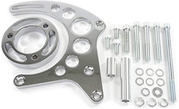 NEW SBC Chevy Aluminum Power Steering Pump Bracket Kit LWP GM Saginaw Street Rod
