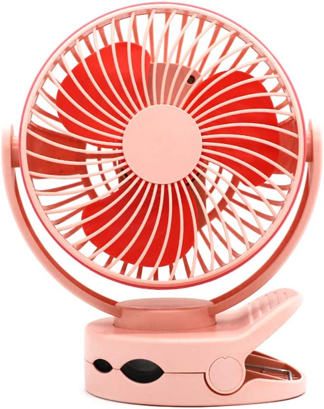 ornerx Rechargeable USB Clip on Desk Fan with LED Lamp