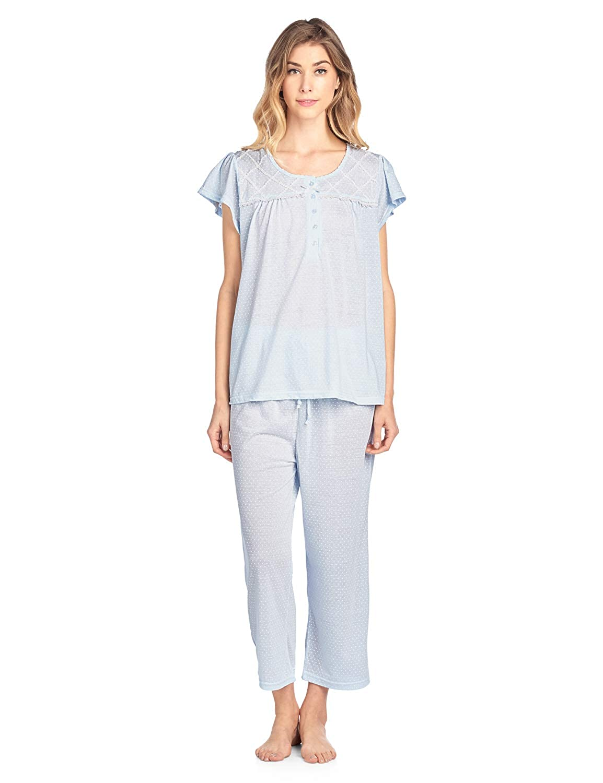 02bc03a9e Casual Nights Women s Short Sleeve Capri Pajama Set at Amazon ...