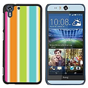 Eason Shop / Premium SLIM PC / Aliminium Casa Carcasa Funda Case Bandera Cover - Colorido verano vibrante Beach - For HTC Desire Eye ( M910x )