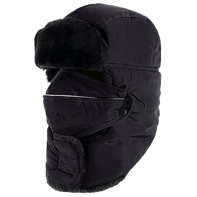 55cce6c04ef Novawo Unisex Trooper Hat Russia Style Bomber Hat Winter Ear Flap ...