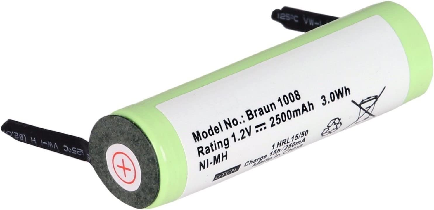 AKKU 1800mAh 1,2V Ni-MH für Braun Oral-B Triumph 3719 3728 3739 3745