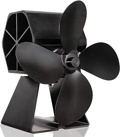 4 Aspas de Rotor Ventilador de Estufa Mini Portatile Stove Fan ...