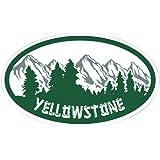 CafePress - Yellowstone Oval Sticker Sticker (Oval) - Oval Bumper Sticker, Euro Oval Car Decal