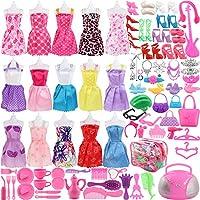 """Juego de ropa para muñecas SOTOGO de 106 piezas adecuado para (11. 0 """"-11. 8"""") Las muñecas incluyen ropa para paquete de ropa de paquete de ropa de 15 piezas y accesorios de muñeca diferentes de 90 piezas para niña"""