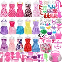 SOTOGO 106 Pcs Barbie Doll Clothes Set Include 15 Pack...