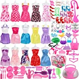 #6: SOTOGO 106 Pcs Barbie Doll Clothes Set Include 15 Pack Barbie Clothes Party Grown Outfits And Randomly 90 Pcs Different Barbie Doll Accessories - The Great Gift For Little Girl