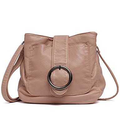 7fb27290237 Image Unavailable. Image not available for. Color: Chibi-store Brand Candy  Color Women Messenger Bag Wash Pu Leather ...