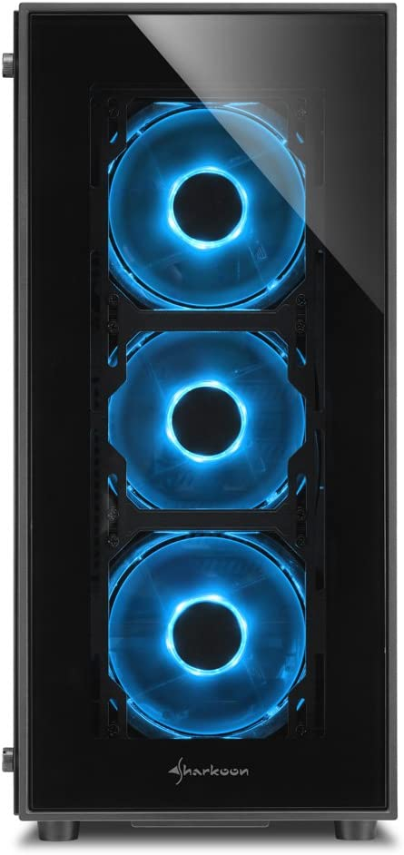 /GB Japanese authorized agent product /HDR-TG5/ Sharkoon Tempered Glass Panel with LED Fan Midi Tower ATX Case HDR-TG5/Blue Sha/