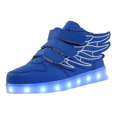Sharplace Skateboard Schuhe Flügel Turnschuhe Jungen Mädchen Wanderschuhe Schuhe mit LED Lichter blinken Schuhe - Schwarz Grün, 29