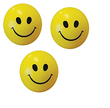 9fcbfd853c1 Buy ONE STOP SHOP Set of 3 Smiley Balls (Yellow) Online at Low Prices in  India - Amazon.in