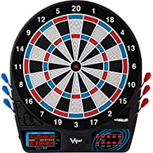 Viper 777 Electronic Dartboard, Easy To Use Button Interface, Red White And Blue Segments, Double Height Cricket Scoreboard, Quick Cricket Key Gets You Into The Game Faster, Missed Dart Catch Ring For Errant Throws, 43 Games And 230 Options