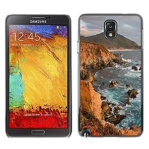 - Ocean Seas - - Monedero pared Design Premium cuero del tir¨®n magn¨¦tico delgado del caso de la cubierta pata de ca FOR Samsung Galaxy Note 3 N9000 N9008V N9009 Funny House