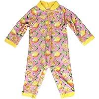 Honeysuckle Swim Company Baby Girl Swimsuit - Certified UPF 50+ - Easy Inseam Diaper Zipper