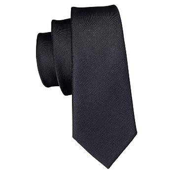 KYDCB 5.5 cm de Negro Conjunto de Corbata Delgada de Seda Lazos ...
