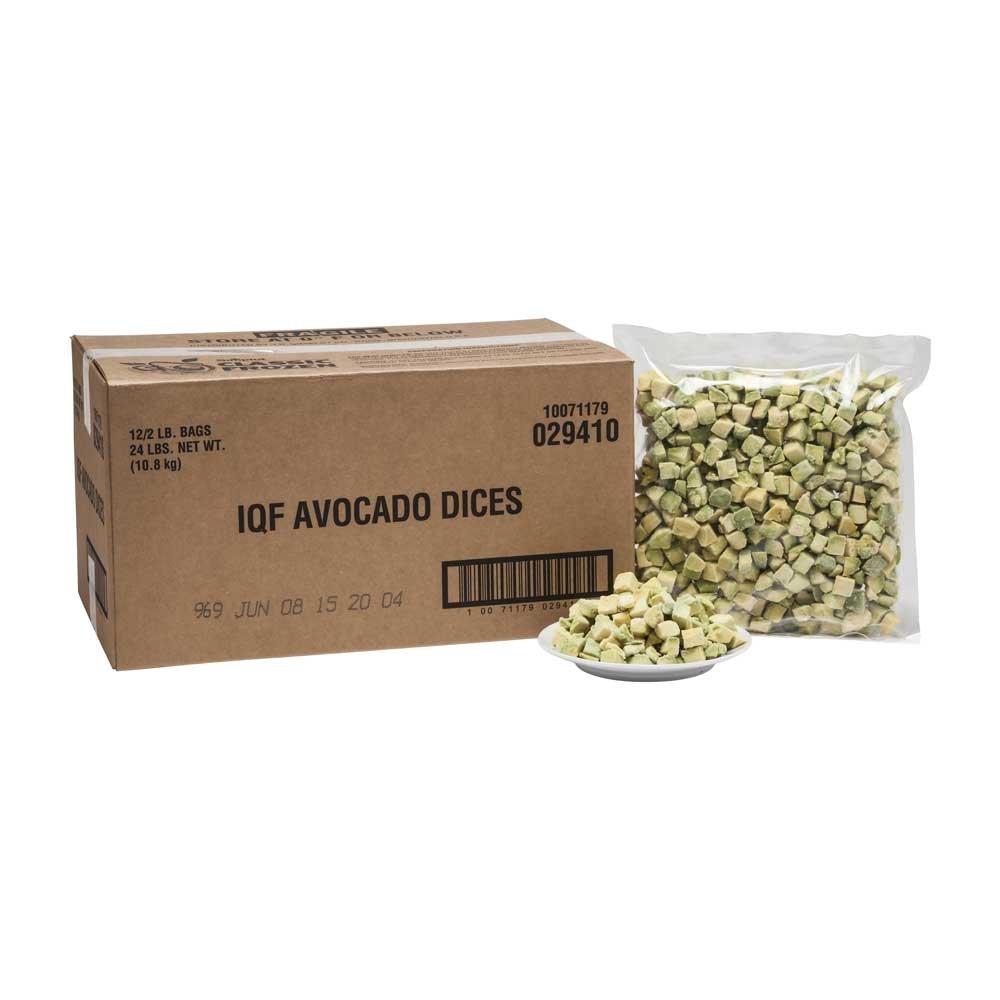Simplot Harvest Fresh Avocados - Avocado Dices, 2 Pound -- 12 per case.
