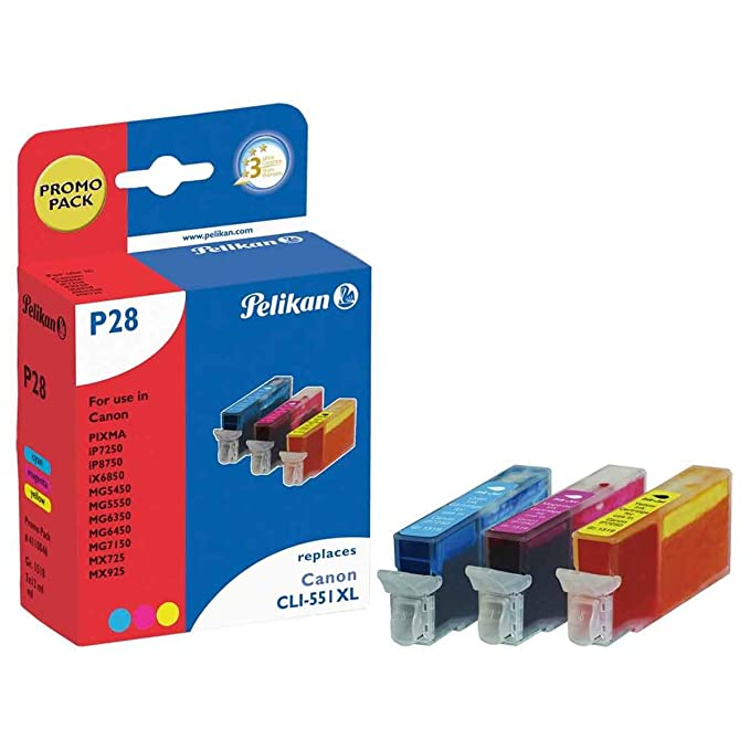Pelikan 4110039 - Cartucho de tinta Canon Pixma iP7250 - CLI-551 Amarillo