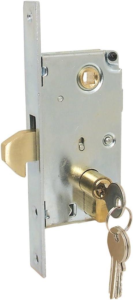 Pestillo de gancho para puerta corredera con cilindro y 3 llaves (Cilindro 40 mm: Amazon.es: Bricolaje y herramientas