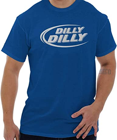 Dilly Dilly Beer Cheer  Funny Drinking Humor Royal Blue Basic Men/'s T-Shirt