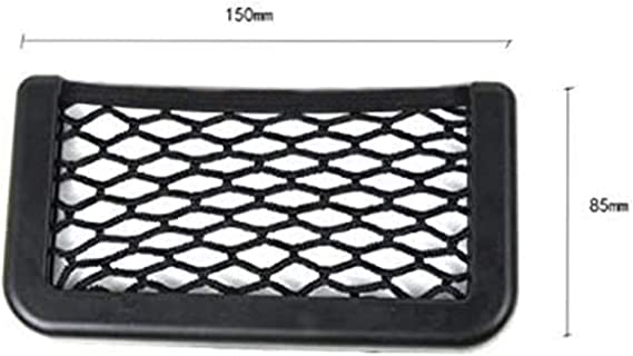 Axuanyasi Car Trunk Storage Net 2 Pack 15 Cm 5 70in X 8 Cm 3 14in Black Magic Selbstklebend Ablagenetz Elastic String Netz Mesh Tasche Für Handy Geldbörse Schlüssel Kleine Dinge Auto