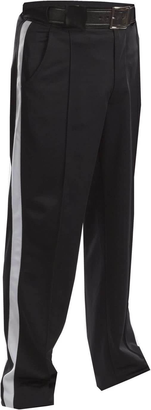 ADAMS COLD WEATHER FOOTBALL OFFICIALS PANTS,BLACK W WHITE STRIPE FREE SHIP* 34