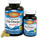 Carlson - Elite Omega-3 Gems Huile de Poisson Professional Strength BOGO 1250 mg - 90 Chewable Gélules