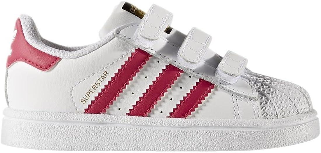 adidas - Superstar Foundation, Senakers a collo basso infantile Bianco Ftwbla Rosfue Ftwbla 000