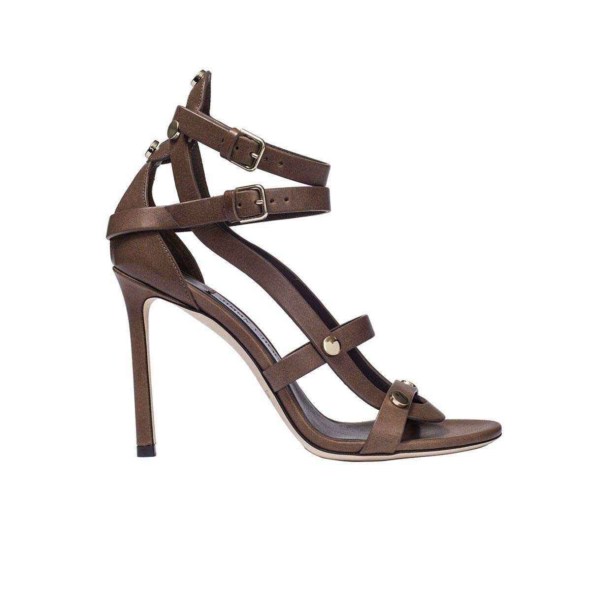 - Jimmy Choo Women's MOTOKO100VWSCACAO Brown Leather Sandals
