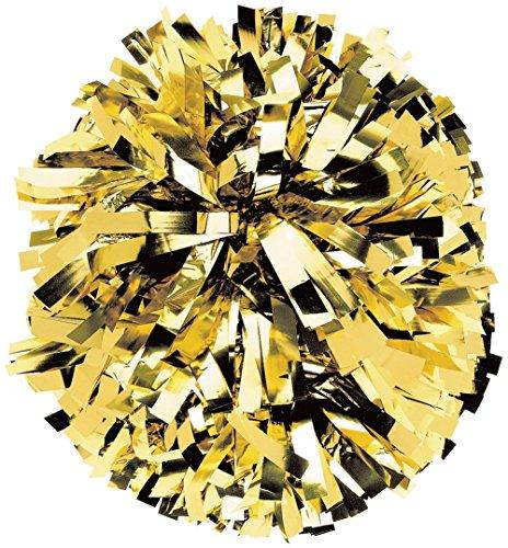 Solid Metallic Instock Pom Metallic Gold